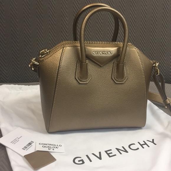 7e0216304f Givenchy Handbags - Givenchy Mini Antigona Satchel in Gold